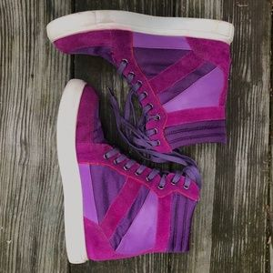 BDG Purple Pink High Top Sneakers